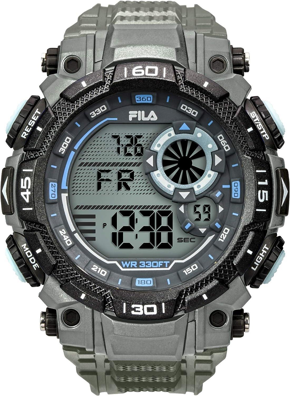 Fila   fila n°826   38-826-004   Reloj Reloj para Hombre Digital de Cuarzo con Brazalete de Plástico 38-826-004