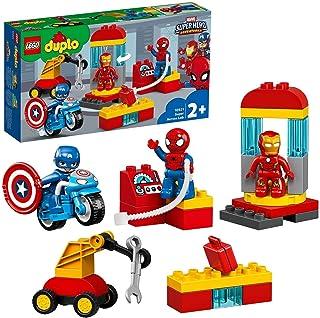 LEGO 10921 DUPLO Super Heroes Superhjältarnas labb Byggsats, Marvel Leksak med Minifigur Byggklossar