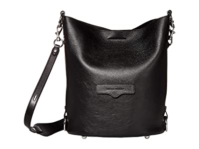 Rebecca Minkoff Utility Convertible Bucket (Black) Handbags