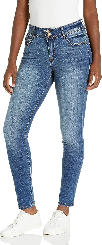 WallFlower Women's High Rise Instaflex Flirty Curvy Skinny Jeans