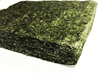 Bulk Green Seaweed for Fish - 100 Sheets 7.5 X 4 Inches - (5.10 Oz Approx.) - Stays Intact Longer