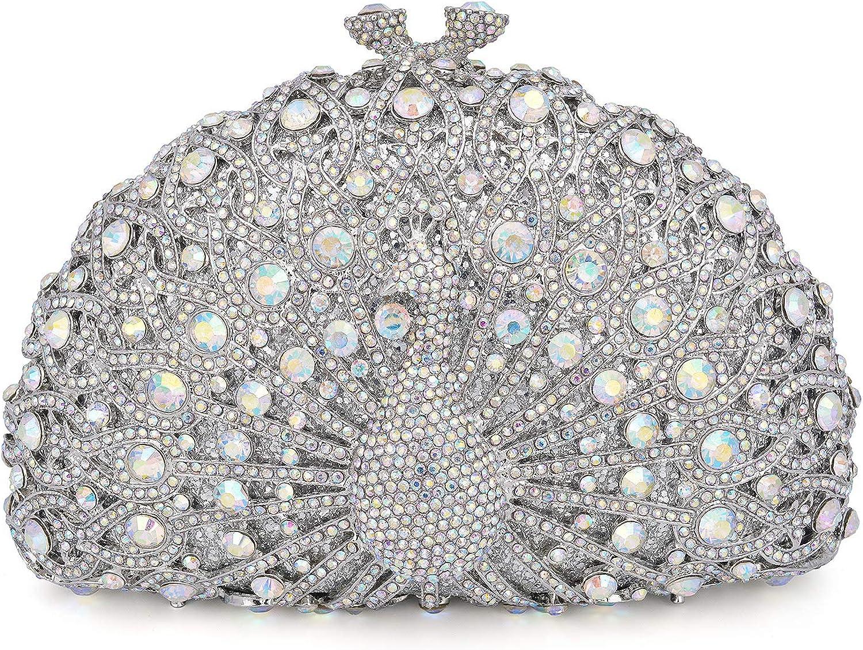 Mossmon Luxury Crystal Clutch Women Rhinestone Evening Bag¡