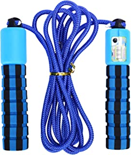 KarlunKoy Jump Rope with Counter,Skipping Rope Tangle-Free Foam Handles,Ropes Spring Coil for Aerobic Exercise