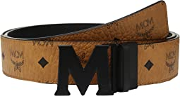 MCM - Claus Reversible Matte Black Buckle Belt