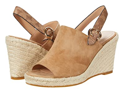 COACH Poppy Wedge (Brown Suede) Women