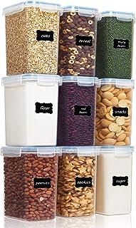 Vtopmart 2L boîtes de Conservation Alimentaire sans BPA de Nourriture en Plastique avec Couvercle,Ensemble De 9+24 Étiquet...