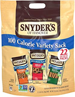 Snyder's of Hanover Pretzels, Variety Pack of 100 Calorie Individual Packs, 22 Count