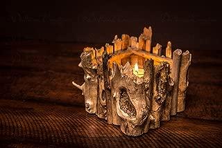 Driftwood Votive Candle Holder