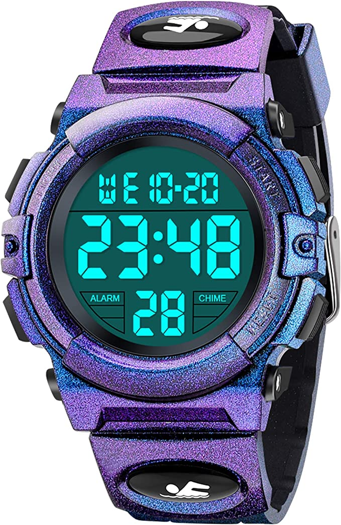 BOXYUEIN Sports Digital Kids Watch: Ideal Gifts for 3-12 Year Old Boys Girls