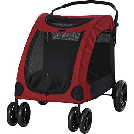 PawHut Foldable Dog Stroller with Storage Pocket, Oxford Fabric for Medium or Large Size Dogs