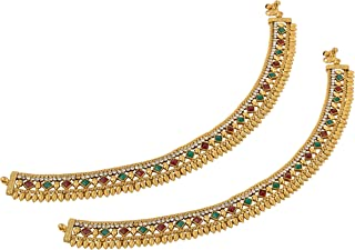 Aakarshana Jewels Gold Imitation Indian Style Traditional Anklet