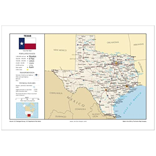Map Of Major Cities In Texas.Maps With Major Cities Amazon Com