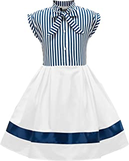 0248f9ee9fa81 BlackButterfly Enfants Robe Années 50 Vintage Rayé  Polly