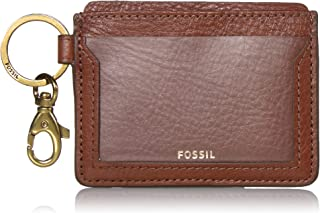 Fossil Women's Leather Card Case Wallet with Keyring