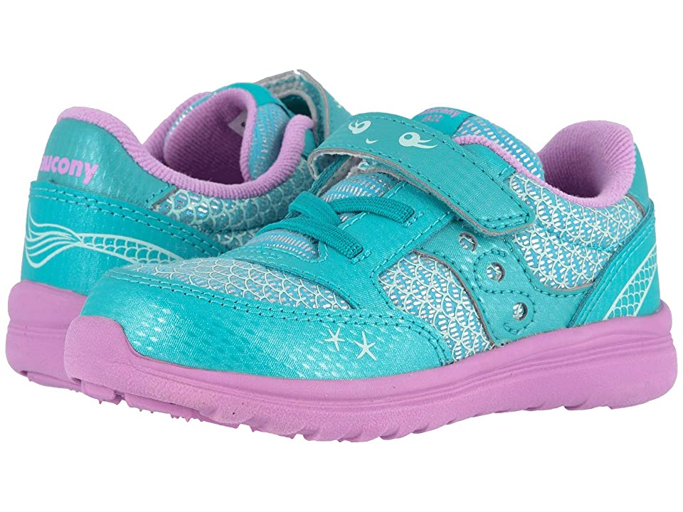 Saucony Kids Originals Jazz Lite (Toddler/Little Kid) (Turquoise/Mermaid) Girls Shoes
