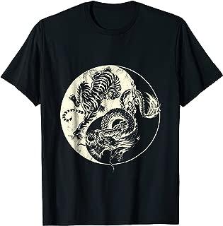 Dragon Vs Tiger Tattoo! Yin and Yang Beast Fight TShirt