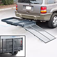 Folding Wheelchair Scooter Carrier Rack Disability Medical Lift Rack Ramp Hitch Mount