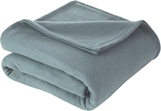 Martex Super Soft Fleece Blanket - Full/Queen, Warm, Lightweight, Pet-Friendly, Throw for Home Bed, Sofa & Dorm - Smoked Pearl