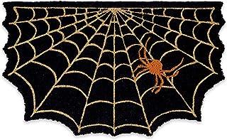 DII Indoor/Outdoor Natural Coir Easy Clean Seasonal Doormat, 18x30, Spider Web
