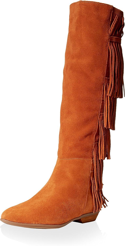 Schutz Womens Suede Fringe Knee-High Boots Brown 8 Medium (B,M)