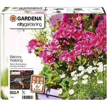 Gardena city gardening Balkon Bewässerung: Vollautomatisches Blumenkastenbewässerungs-Set, für bis zu 6 m Balkonkästen, 13 Programme (1407-20)