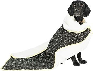 MOG & BONE Plush Blanket Pitch Triangle Print