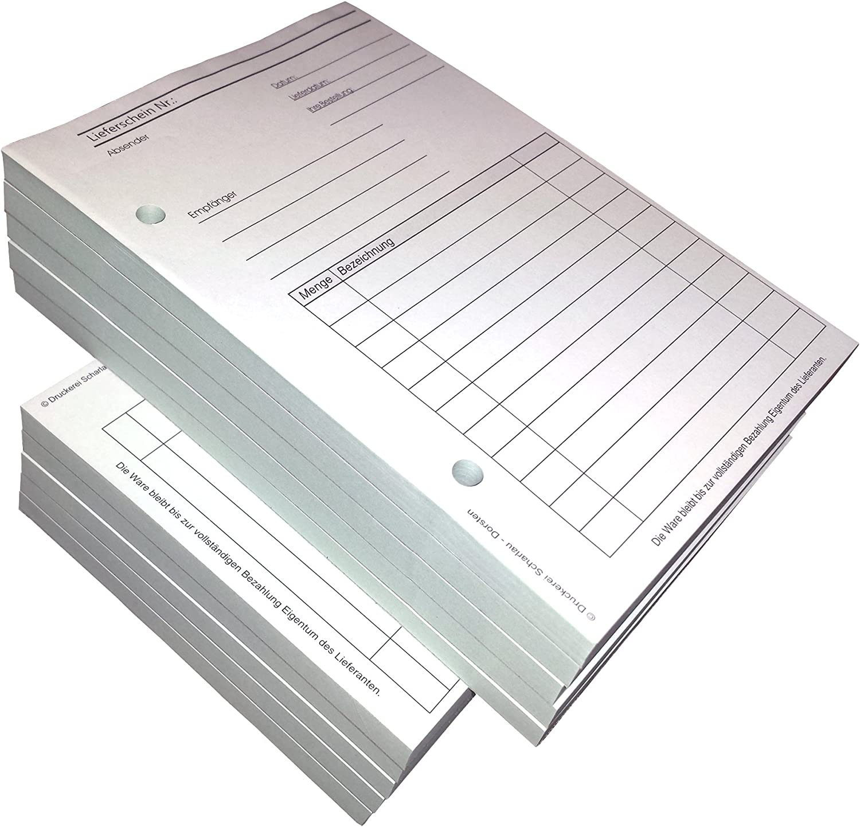 10x Lieferscheinblock Block Lieferschein Din A5 2 Fach Selbstdurchschreibend 2x50 Blatt Weiß Grün Gelocht 22430 Bürobedarf Schreibwaren