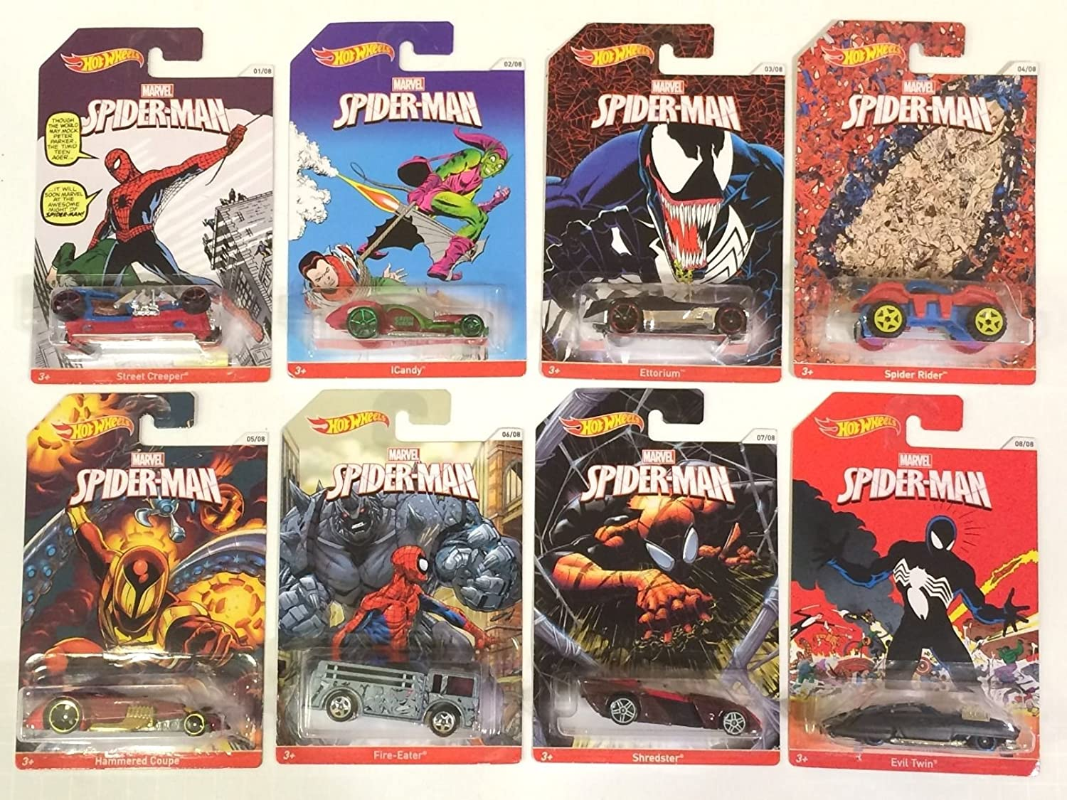 2014 HW Spider Man Collection ALL 8 VEHICLES