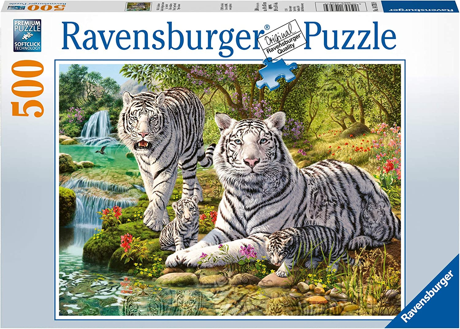 Ravensburger Max 41% OFF White Omaha Mall Tigers 500pc Jigsaw Puzzle