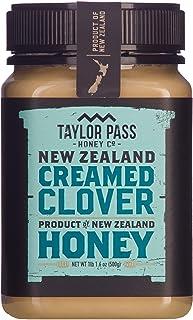 Taylor Pass Honey Co Creamed Clover Honey Raw Healthy Delicious Whipped New Zealand Honey Non Gmo (Creamed Clover (1lb 1.6...