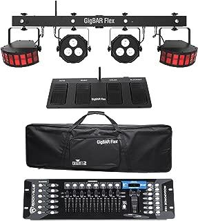 Chauvet DJ GigBAR Flex Lighting System w/Derby+Par Lights+Footswitch+Controller