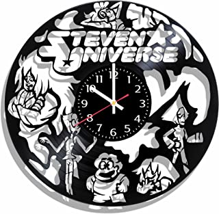 Olha Art Design Vinyl Record Wall Clock Steven Universe, Steven Universe Decal, Best Gift forsteven Universe Fans