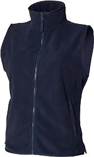 Henbury Womens/Ladies Sleeveless Microfleece Anti Pill Lightweight Jacket/Bodywarmer