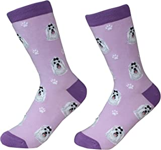 Maltese Dog Breed Socks Unisex Sock Daddy by E&S Pets
