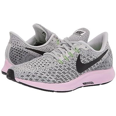 Nike Air Zoom Pegasus 35 (Vast Grey/Black/Pink Foam/Lime Blast) Women
