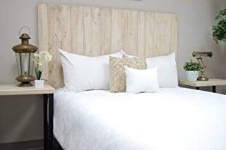 Antique White Headboard Full Size Weathered, Hanger Style, Handcrafted. Mounts on Wall. Easy Installation