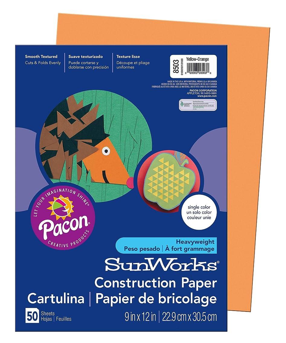 SunWorks Construction Paper, Yellow-Orange,  9