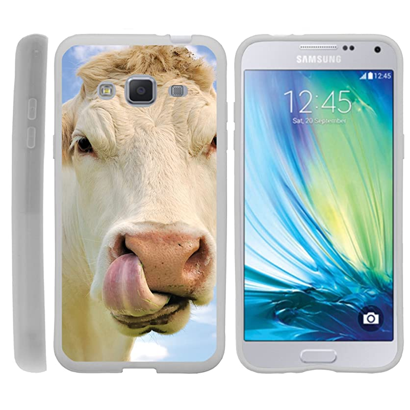 MINITURTLE Case Compatible w/Case for Samsung Galaxy J3, Express Prime, and Amp Prime, TPU Slim Fitted Shock Light Cute Animal Cow Licking Nose mzdj16825