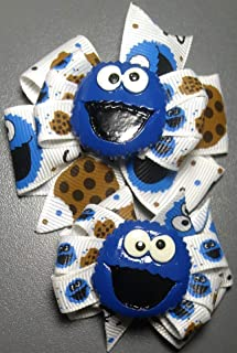 Cookie monster hair bow for kids or dogs