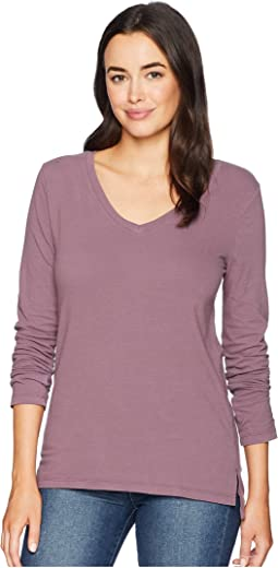 Effortless Long Sleeve V Tee