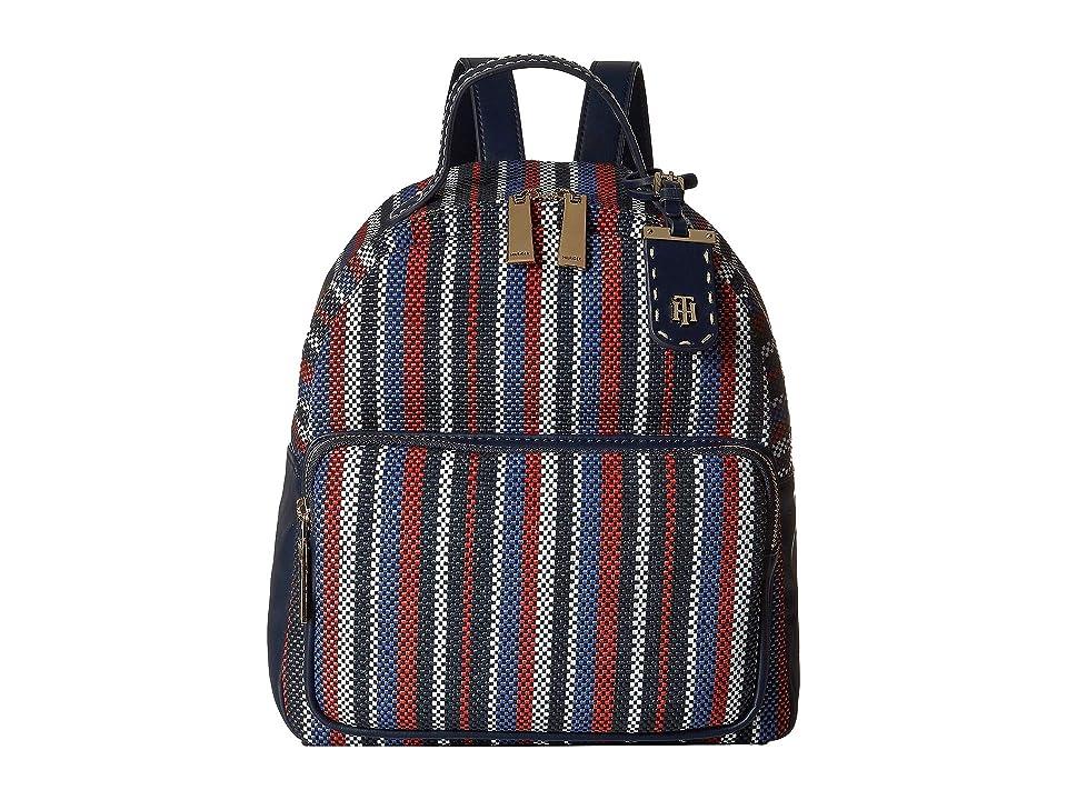 Tommy Hilfiger Julia Novelty Backpack (Navy/Natural) Backpack Bags