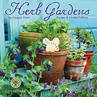 Herb Gardens 2019 Wall Calendar: Recipes & Herbal Folklore - coolthings.us