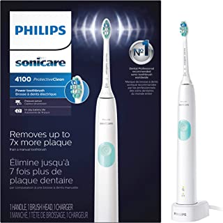 Philips Sonicare HX6817/01 ProtectiveClean 4100 Rechargeable Electric Toothbrush, White...
