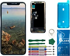 UNUS 3D in-Cell LCD Digitizer Replacement Kit for iPhone X (Black), Comes with Tempered Glass Screen Protector and Free Tool Kits