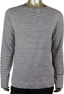 c69762ef7 Gucci Men's Blue/Beige Linen Vintage Striped Long Sleeve T-Shirt 408854 4267
