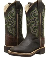 Old West Kids Boots - Square Toe Crepe Sole Brown Oil Apache (Toddler/Little Kid)