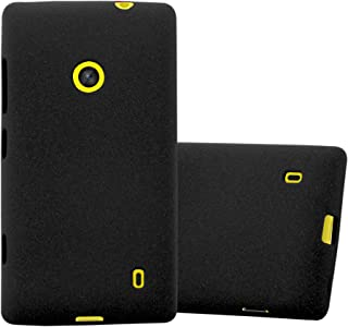 Cadorabo Case Works with Nokia Lumia 520 in Frost Black – Shockproof and Scratch Resistant TPU Silicone Cover – Ultra Slim Protective Gel Shell Bumper Back Skin