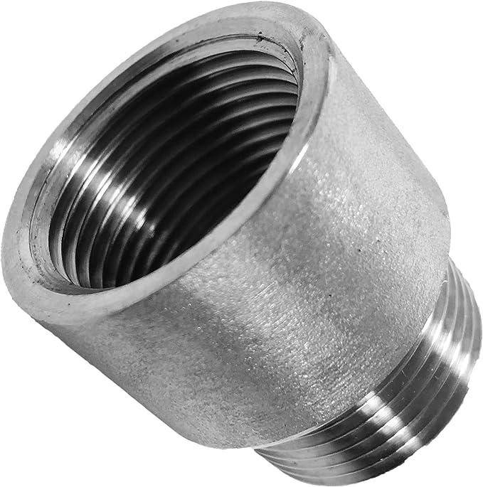 Au/ßendurchmesser in mm GEWINDE FITTING aus EDELSTAHL V4A 1//8 bis 2 Zoll WUNSCHGR/ÖSSE einfach selbst w/ählen  1//2 Zoll x 9mm R Schlaucht/ülle AG x T/ülle