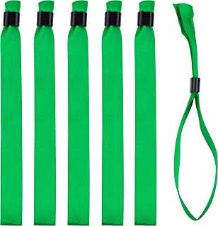 Lot 1000 bracelets en tissu satiné/ruban, Fermeture plastique coulissante, Vert