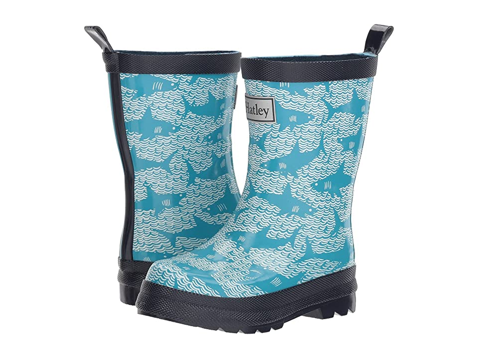 Hatley Kids Shark Alley Rain Boots (Toddler/Little Kid) (Shark Alley) Boys Shoes